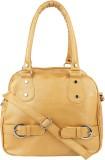 SV Creations Women Gold PU Sling Bag