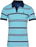 IND Classic Striped Men's Polo Neck Ligh...