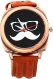 Rise N Shine Stylish Moustache Dial Brow...