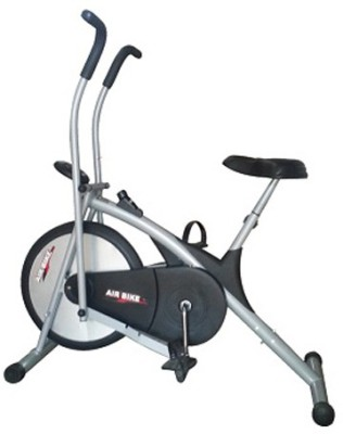 Deemark AIR BIKE PLATINUM DX WORKOUT IN THE COMFORT OF YOUR HOME Indoor Cycles Exercise Bike(Black, Grey)