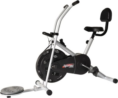Deemark AIR BIKE 1001 WITH BACK REST & TWISTER FOR HOME USE Indoor Cycles Exercise Bike(Black, Grey)