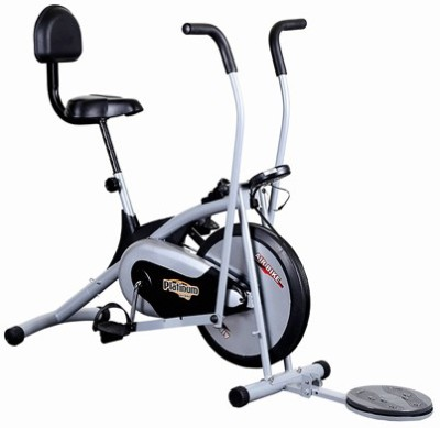 Deemark AIR BIKE PLATINUM DX WITH TWISTER WORKOUT IN THE COMFORT OF YOUR HOME Indoor Cycles Exercise Bike(Black, Grey)