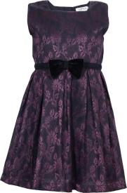 Sambu Baby Girl's Midi/Knee Length Casual Dress(Black, Sleeveless)