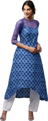 Libas Printed Women's A-line Kurta(Blue) at flipkart
