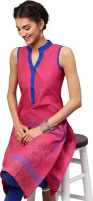Libas Solid Women's Straight Kurta(Pink, Blue) at flipkart