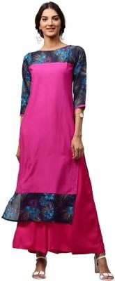 Libas Solid Women's Straight Kurta(Multicolor) at flipkart