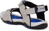 Duke Men Grey And R.Blue Sports Sandals