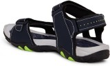 Duke Men Navy And P.Green Sports Sandals