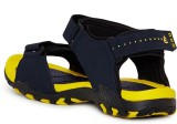 Duke Men Yellow And Navy Sports Sandals