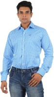 Relish Formal Shirts (Men's) - Relish Men's Checkered Formal Blue, Light Blue Shirt