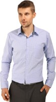 Bombay Casual Jeans Formal Shirts (Men's) - Bombay Casual Jeans Men's Checkered Formal Blue, White Shirt