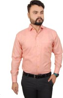 Ladida Formal Shirts (Men's) - Ladida Men's Solid Formal Orange Shirt
