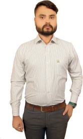 Ladida Men's Striped Formal Multicolor Shirt