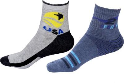 IndiWeaves Mens Printed Ankle Length Socks(Pack of 4)
