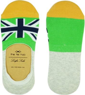 The Tie Hub Mens Printed Footie Socks