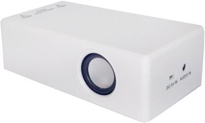 Shrih Unique Portable Mobile/Tablet Speaker(White, Stereo Channel)