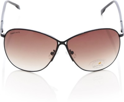 Fastrack C057BR1F Aviator Sunglasses(Brown)
