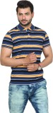 Broche Striped Men's Polo Neck Yellow T-...