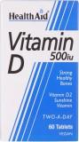 HealthAid Vitamin D 500iu (Vitamin D2- E...