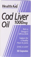 HealthAid Cod Liver Oil 1000mg Omega Fatty Acids(30 No)