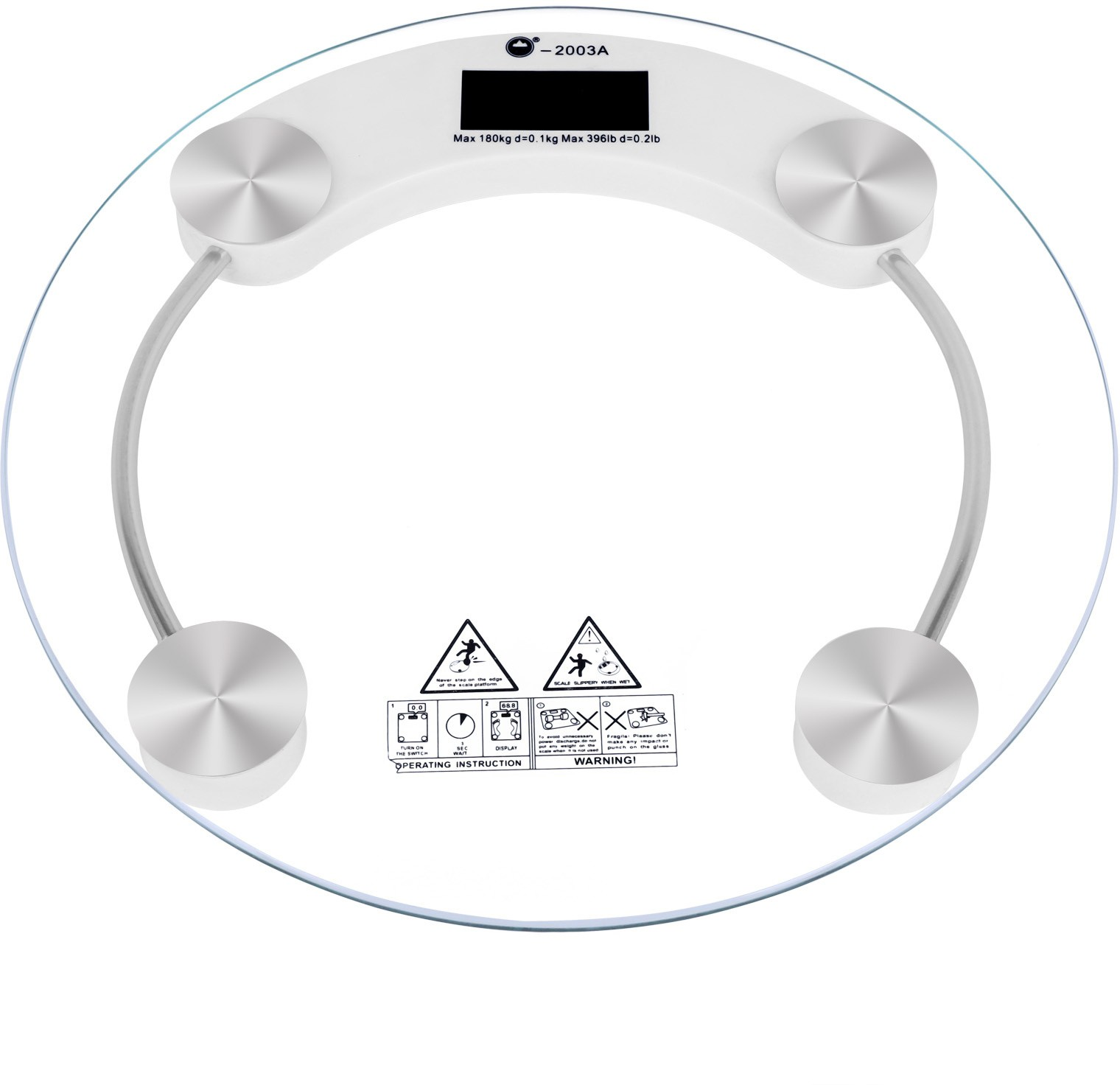 Cierie Transperent Glass Digital Weighing Scale(White, Silver)