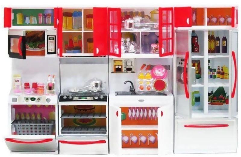 vbenterprise Swastik Fashion Multicolour Plastic Doll Kitchen Set(Multicolor)