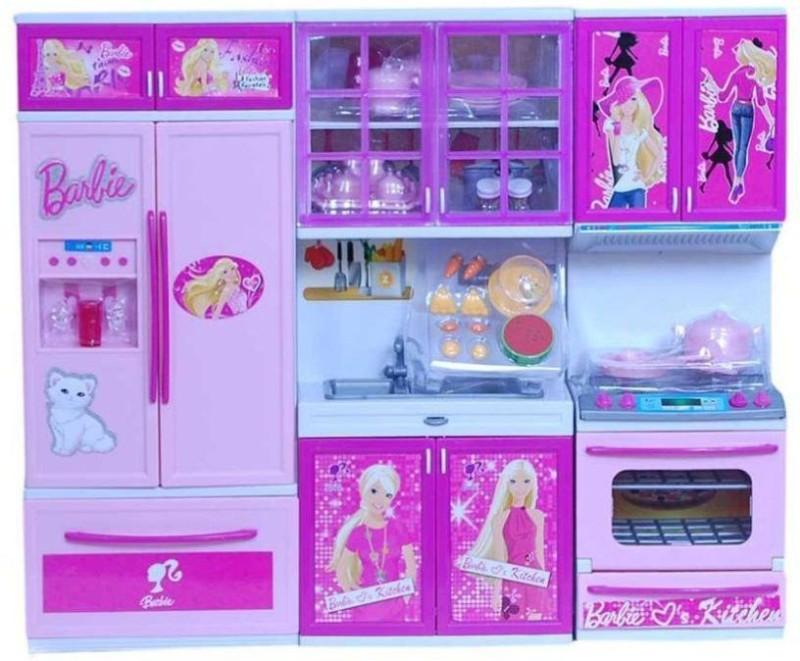 vbenterprise Swastik Fashion Latest Barbie Kitchen Set(Pink)