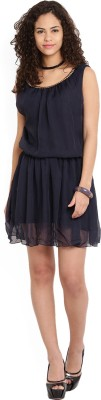 Jealous Club 21 Women's Blouson Dark Blue Dress at flipkart