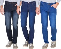 Vats Jeans (Men's) - vats Slim Men's Multicolor Jeans(Pack of 3)