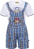 Seals Dungaree For Boys Casual Checkered...