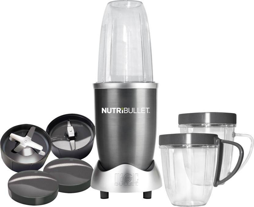 NutriBullet Hi-Speed 8 Pieces Set System 600 W Juicer Mixer Grinder(Grey, 3 Jars)