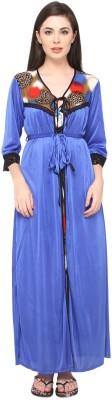 Valentine Women's Nighty with Robe(Blue) at flipkart