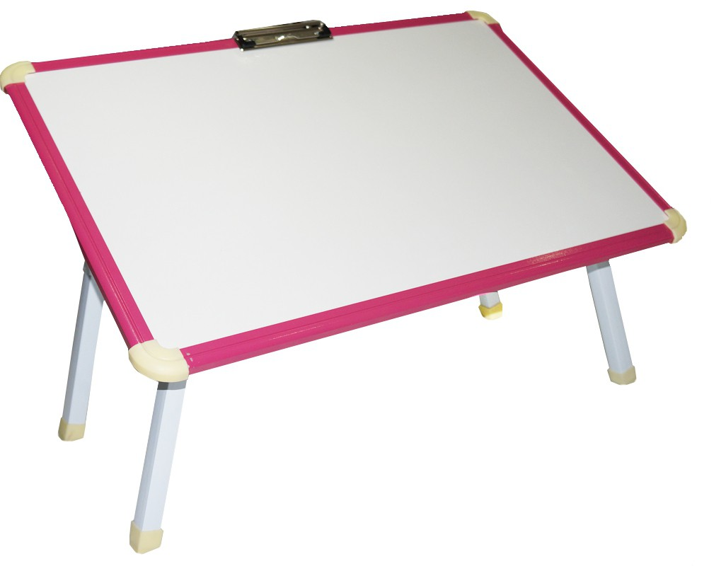 View Muren Study cum Writing cum Marker Table Engineered Wood Study Table(Free Standing, Finish Color - Pink) Furniture (Muren)