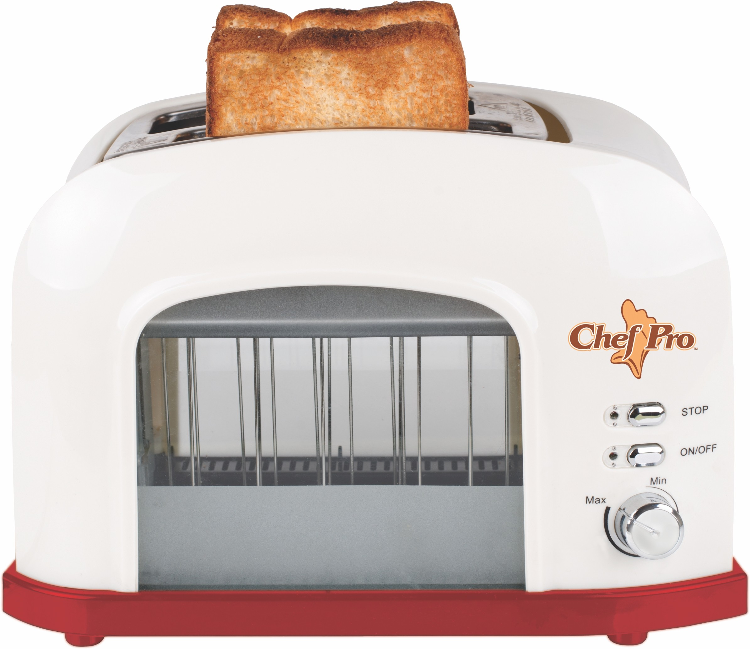 Chef Pro Toast Lift Transparent 750 W Pop Up Toaster(Off White)