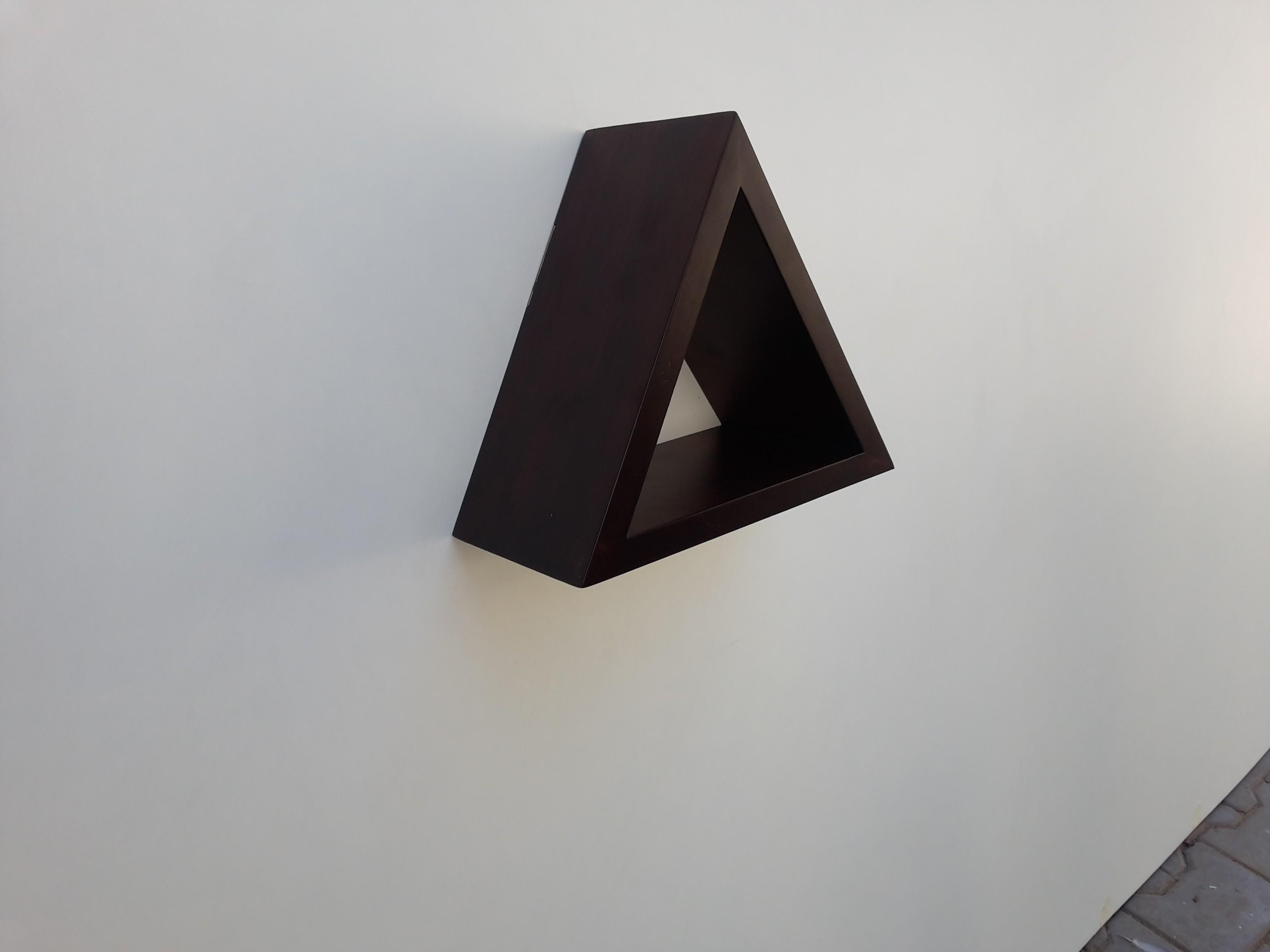 View Lemodulor Traiangle MDF Wall Shelf(Number of Shelves - 1, Brown) Furniture (Le Modulor)