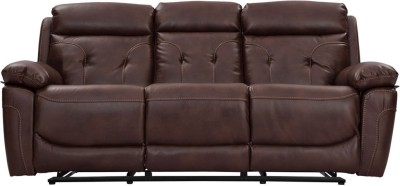Durian Leatherette Manual Recliners(Finish Color - Brown)