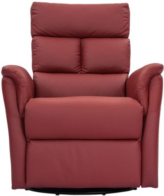 Durian Leather Manual Swivel & Rocker Recliners(Finish Color - Red)