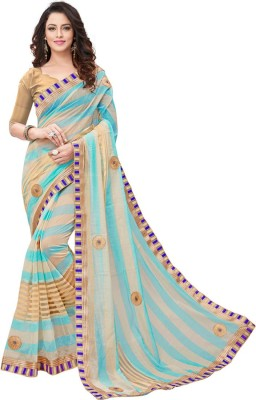 BAPS Embroidered, Solid, Self Design Bollywood Silk Cotton Blend Saree(Multicolor)