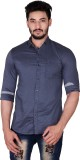 Mercury Men's Solid Casual Grey Shirt