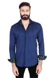 Lsd Casuals Men's Solid Casual Blue Shir...