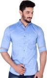 Mercury Men's Solid Casual Blue Shirt
