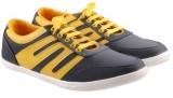 Mobiroy Canvas Shoes (Grey, Yellow)