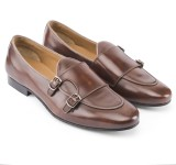 Missimo Double Monk Loafers (Brown)