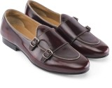 Missimo Double Monk Loafers (Burgundy)
