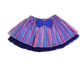 Soul Fairy Printed Girls Gathered Multicolor Skirt