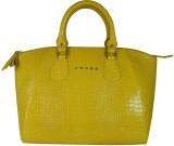 Cross Women Yellow PU Messenger Bag
