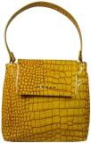 Cross Women Yellow PU Hand-held Bag