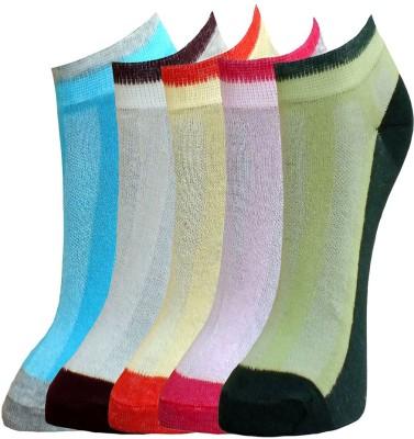 Marc Women's Self Design Low Cut Socks(Pack of 5) at flipkart