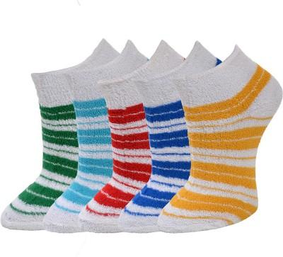Marc Women's Striped Ankle Length Socks(Pack of 5) at flipkart