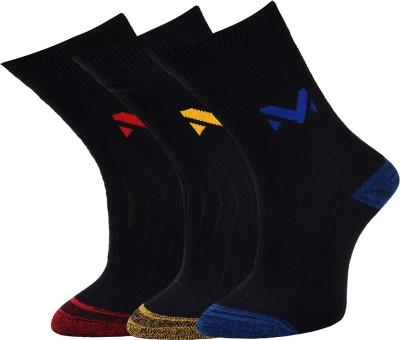Marc Mens Graphic Print Crew Length Socks(Pack of 3)
